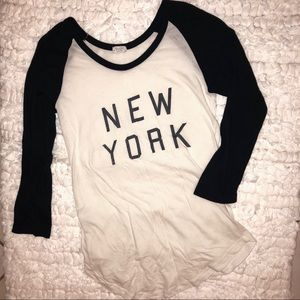 { John Galt } New York Baseball Raglan Top